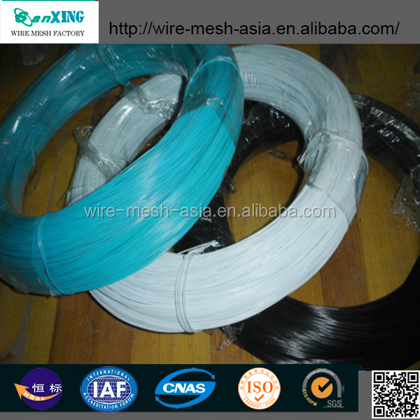 12 gauge PVC Coated iron wire/ green plastic coated garden wire supplier