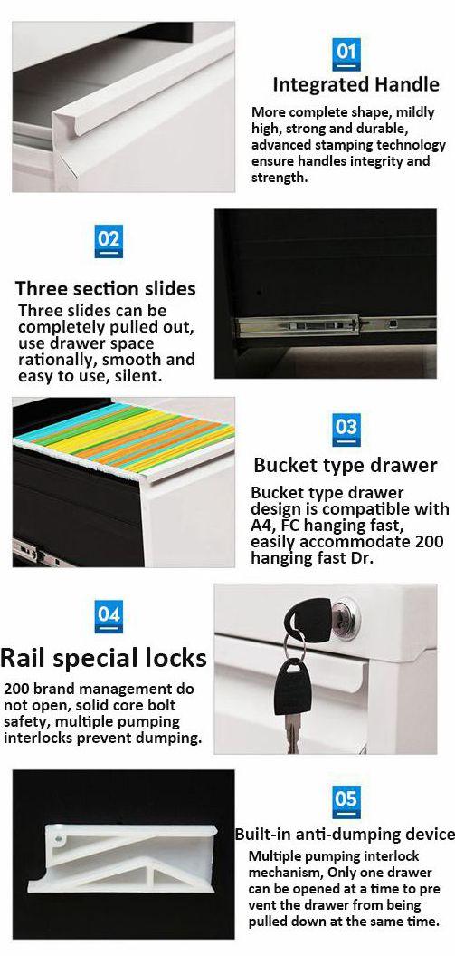2018 New Multi Drawer Metal File Cabinet/Storage Cabinet