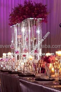 Acrylic Centerpieces Crystal Wedding Flower Stand