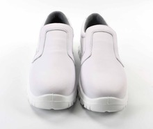 white non slip rubber sole nursing hospital work shoes in hotel / kitchen