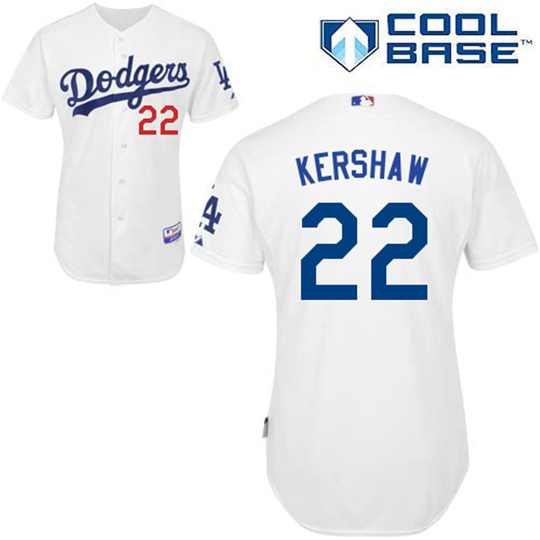 12d903e569d Get Quotations · 22 Clayton Kershaw Jersey Los Angeles Jerseys Baseball  Jersey Mens