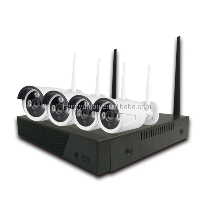 Wireless Security NVR Kit with 4pcs HD Camera and 1pc NVR, Use for Home Office Store Factory, CCTV IP Camera
