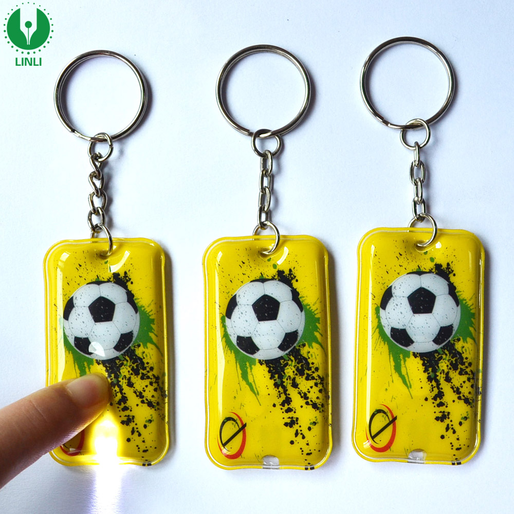 Shenzhen Factory Custom PVC Led Keychain, Key Chain Light, Led Keyring