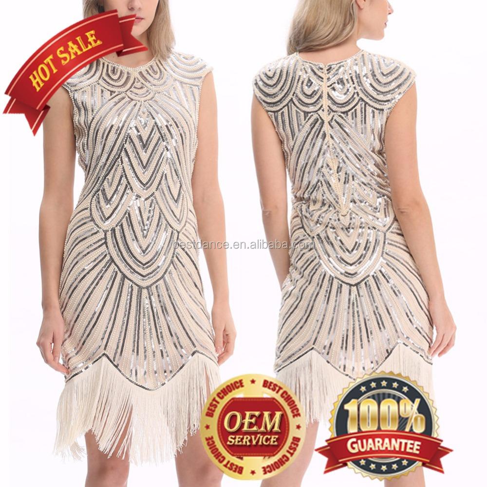 BestDance גבירותיי 1920s 20s מפלגה Flapper תלבושות צ 'רלסטון גטסבי המפלגה תלבושת תחפושת ליל כל הקדושים תלבושות שמלה