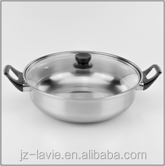hot sales soup pot stainless steel kitchenware used for gas stove / induction cooker
