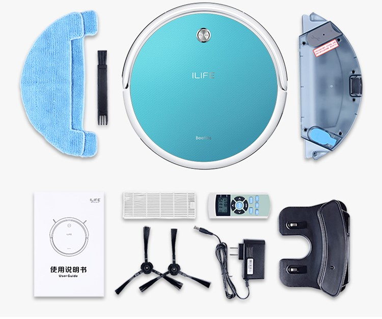 Superior quality ILIFE T4 CHUWI vacuum cleaner robot dry and wet mopping