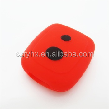 Hot sale 2 buttons flip remote key shell silicone car key cover remote key case for Proton