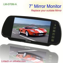 "7"" Car Mirror Reverse 2 Video RCA AV Color Display Rear View TFT LCD Monitor"