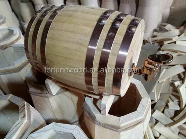 Direct factory small vertical wood display barrel