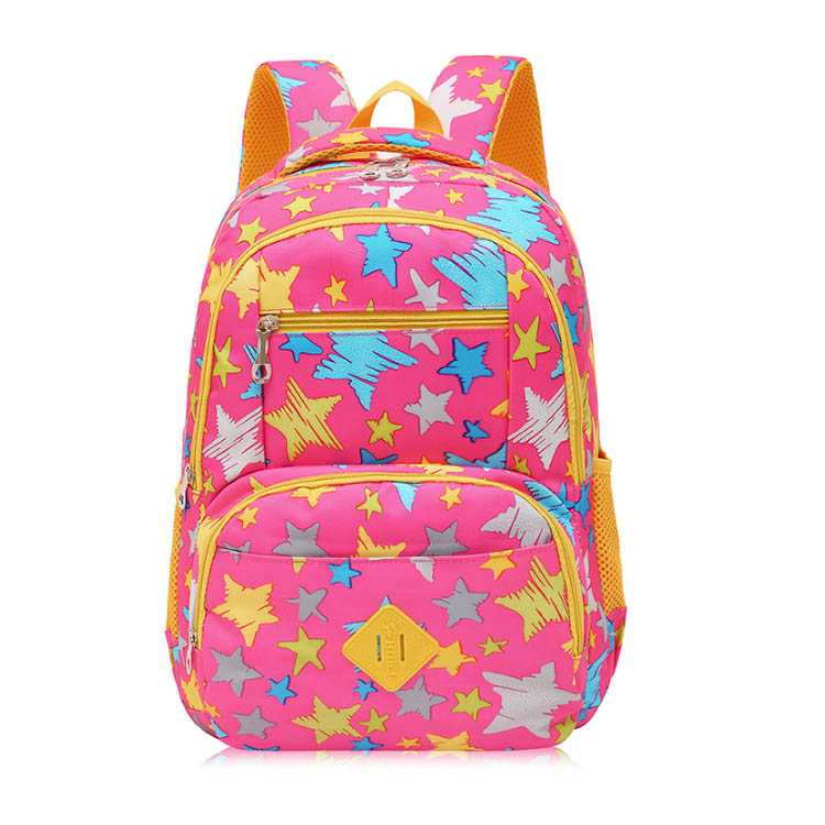 New fashion printing boys and girls book backpacks wholesale star school bags for students