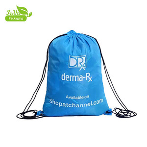 Promotional Polyester School Drawstring cheap backpack