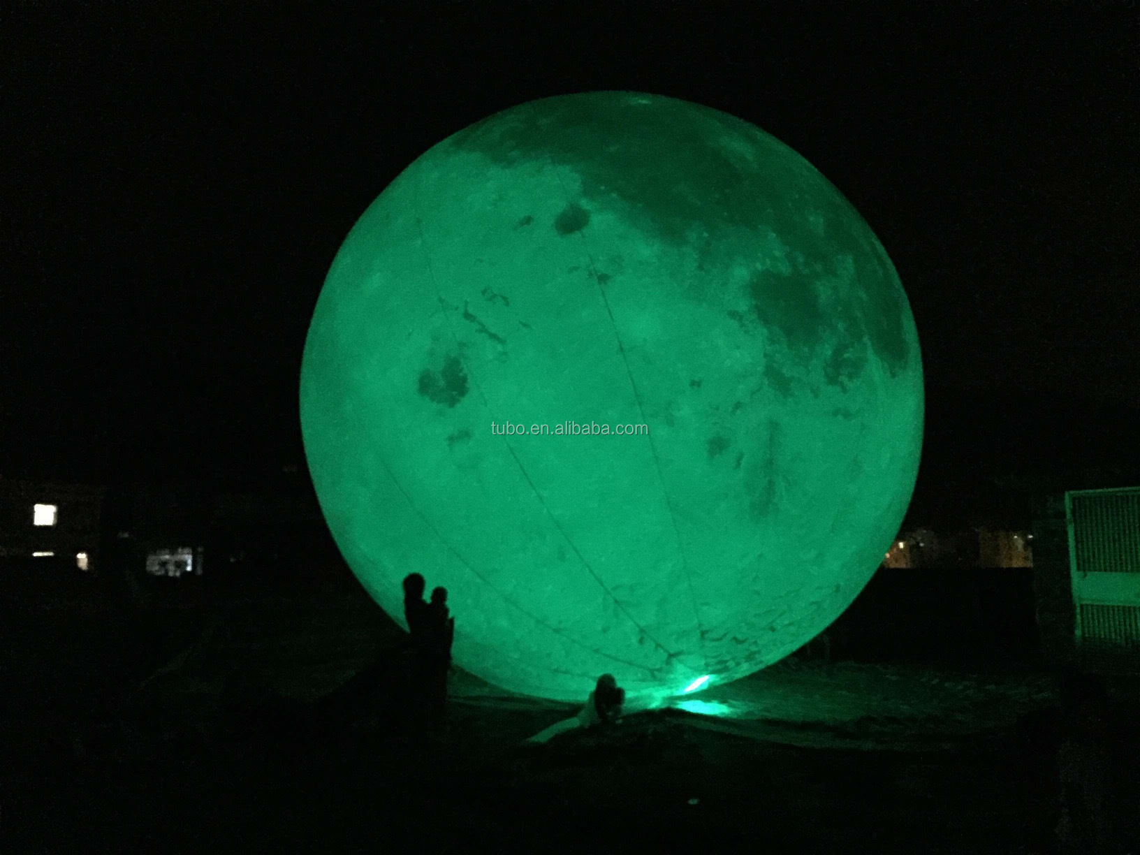 6m inflatable outdoor giant inflatable led lighting moon ball/inflatable decoration moon for sale