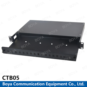 Boya High Quality Factory Directly Supply 19' Rock Mounted Sliding Type Optical Fiber Terminal Splitter Box