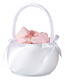 White Simply Satin Flower Basket