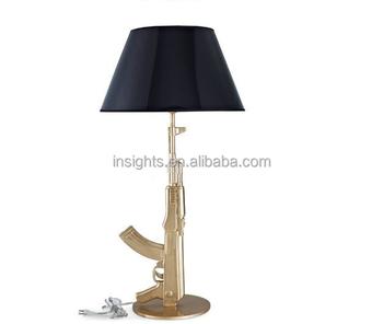 Modern Flos Classic Designer Ak47 Gun Table Lamp Gold/chrome ...