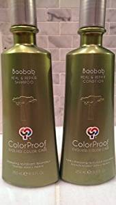 ColorProof Baobab Heal & Repair Shampoo & Conditioner 8.5 Oz Duo Set, Color Safe, All Hair Types, Men & Women, Frizz Control, Strengthening, Hydrating, Heat Protection