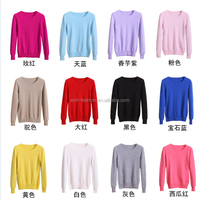 wholesale different colors women cashmere sweater