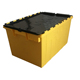 75L big plastic shipping box heavy duty plastic storage box