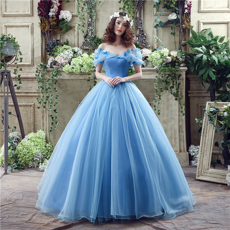 Cinderella Dress Organza Ball Gown Wedding Dresses 2017 Sleeveless ...