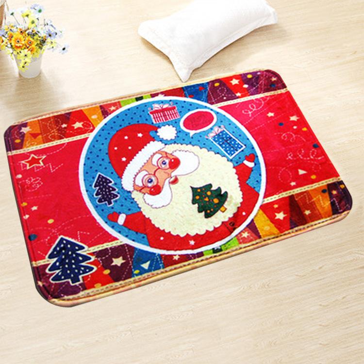 2016 New Christmas Printed Santa Claus Bath Mats Bathroom