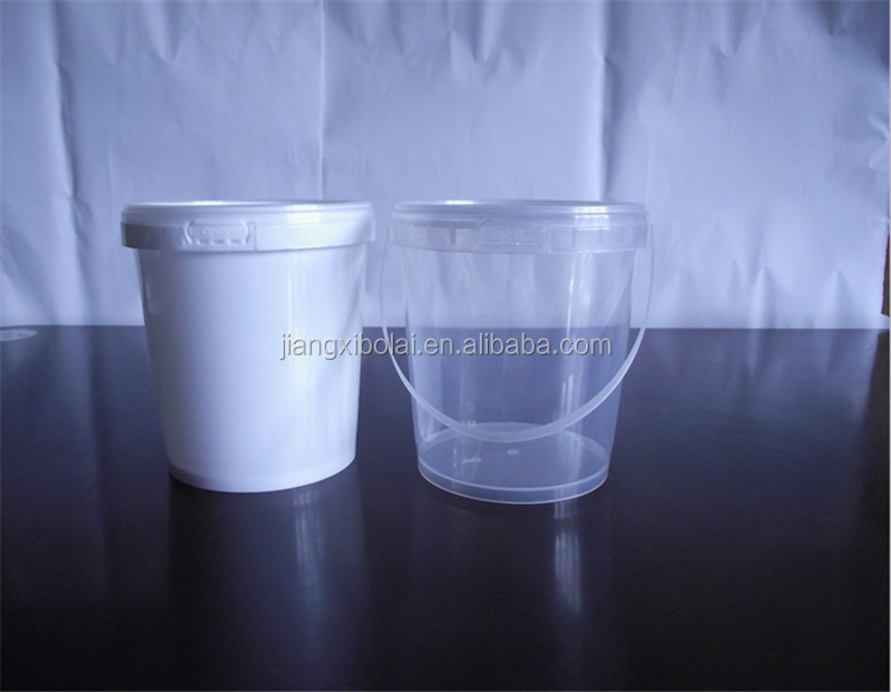 Food grade PP clear plastic buckets 400ml 500ml 1L for wholesales