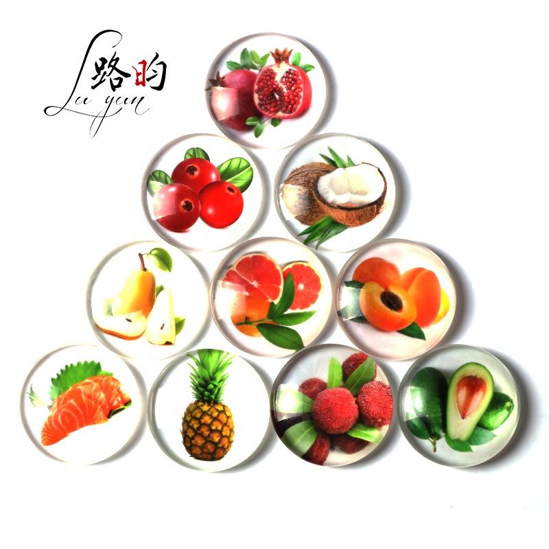 12mm Vòng tùy chỉnh trái cây và rau quả rõ ràng glass cabochon