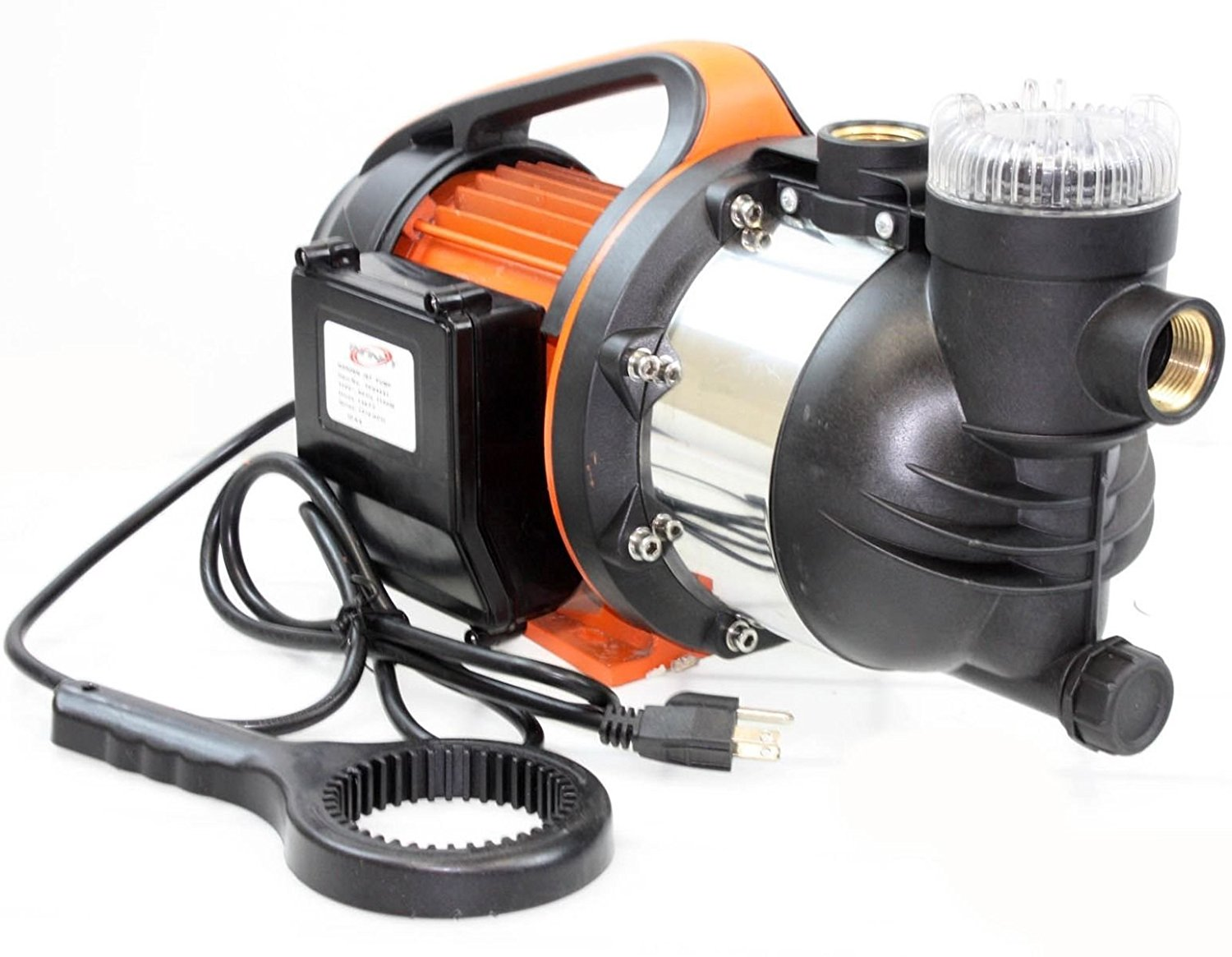 "Gracelove 1.5HP 1"" SHALLOW WELL GARDEN SPRINKLER JET WATER PUMP BOOSTER SELF PRIMING 1100W"