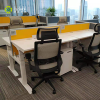 Ergonomic Height Adjustable Sit Standing Electric Office Desk with Dual Motor 3 Stage Up Lifting Legs