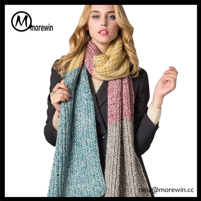 Morewin Brand Wholesale Promotional Cheap Scarves yiwu scarf Knitted Scarf Women Dresses