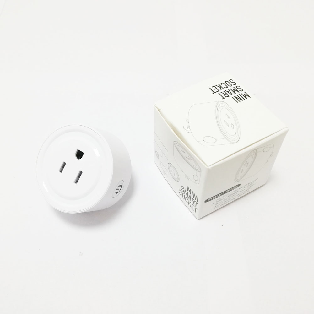 Amazon Alexa round shape US power wifi controlled mini smart socket smart plug for Iphone Android Wireless control switch remote