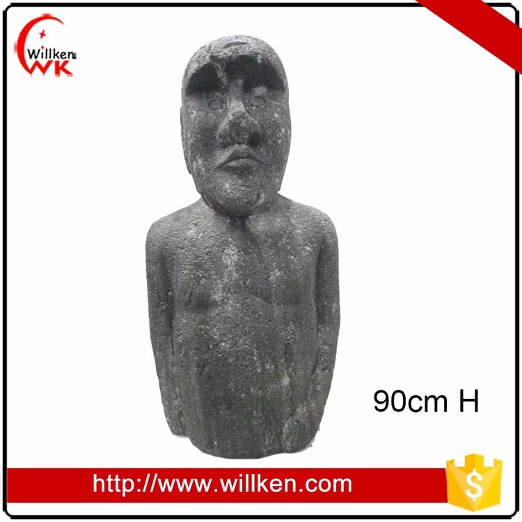 Large size decorative resin Moai sculpture for sale