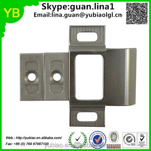 China supplier custom Adjustable Satin Nickel Strike Plate with Extended Lip