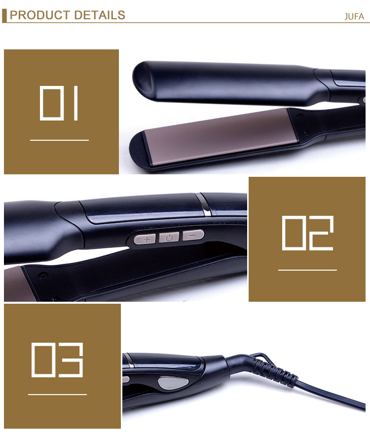 Custom Led PTC Heating Private Label Flat Irons Ceramic Professional Hair Straightener