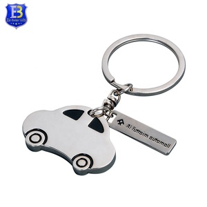 Custom zinc alloy material car shape plating nickle metal keychain
