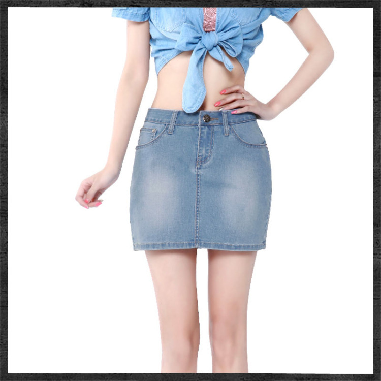 abac28a6f49 Get Quotations · All-match New Fashion Sexy Ladies  Denim skirt