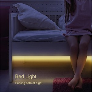 Led Motion Activated Night Light, Flexible LED Strip Sensor Automatic Bed Light for Babyroom Bedroom