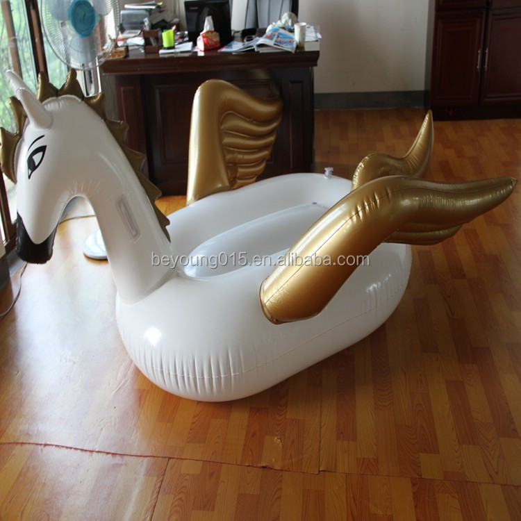 Giant White Inflatable Swan Gold Inflatable Swan Float