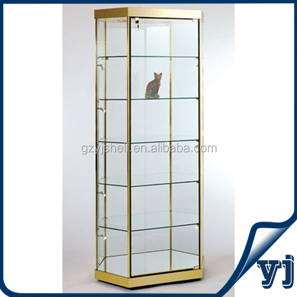 Yj-182 China Factory Custom Hexagon Glass Display Cabinet,Led ...