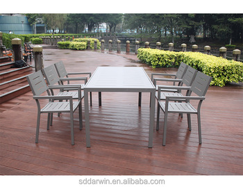 Outdoor indoor plastic houten eettafel en stoel set buy