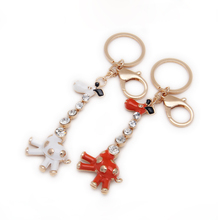 Deer keychain with Rhinesrone gifts for girlfriends