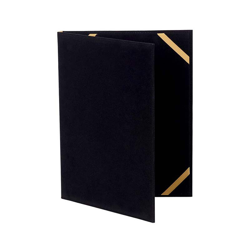 Customize size black velvet marriage certificate holder