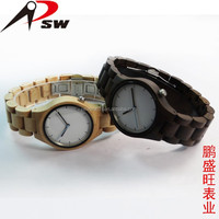 2017 brand factory online shopping ladies wood bracelet watches