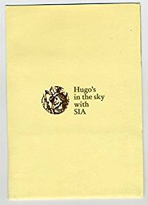 Hugo's in the Sky with Singapore International Airlines Packet Hyatt Hong Kong