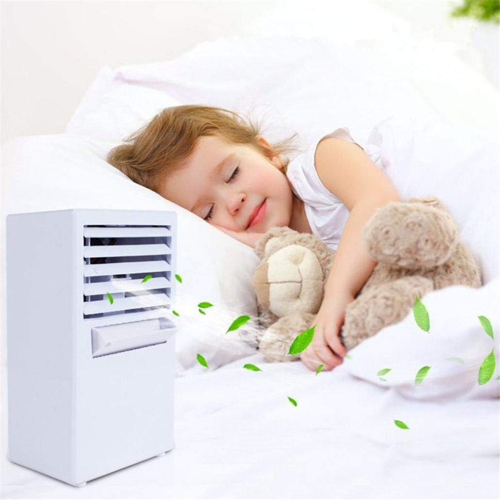 Mini Air Conditioner Fan,Personal Fan,Portable Air Conditioner Fan Mini Evaporative Air Circulator Cooler Humidifier For Outdoor Desktop Home (White, Product size: 5.69x9.54x3.93 inch)