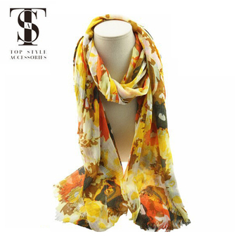 New solf material high quality flora print oversize shawl scarf use in beach