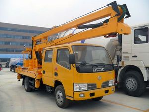 2017 RHD Dongfeng hydraulic aerial cage vehicle-mounted mobile elevating work platform in Iran