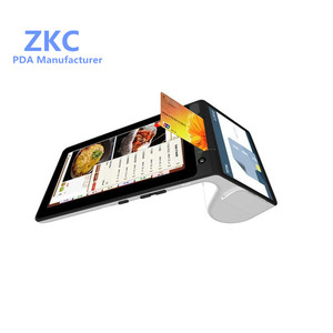"Mobile Android pos portable terminal with NFC reader/7inch tablet&4.3"" mini customer display/bluetooth"