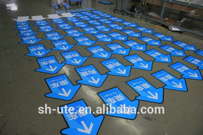 Custom die cut vinyl floor graphics floor stickers for Floor stickers