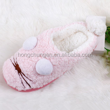 New design cute winter warm animal shaped slippers for adult
