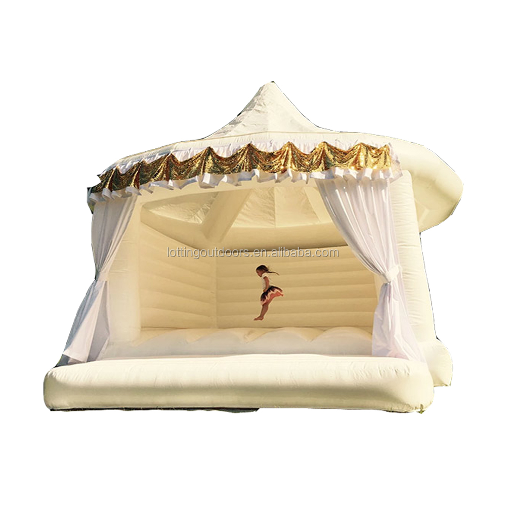 Size can be customized adult bouncy castle white bouncy castle for wedding